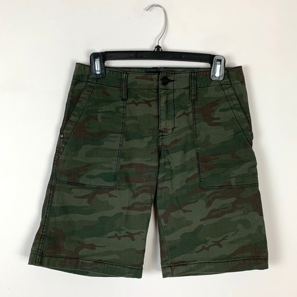 Sanctuary Green Camo Bermuda Shorts